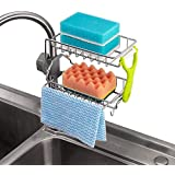 UniHome Stainless Steel Kitchen Faucet Sponge Holder, Shower Caddy Soap Dish Sink Organizer for Bathroom or Kitchen