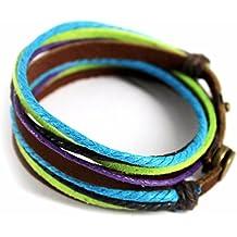 iEFiEL Pulsera Ajustable de Cuerda Trenzada para Hombre y Mujer de Modas Multicolores de Enamorados