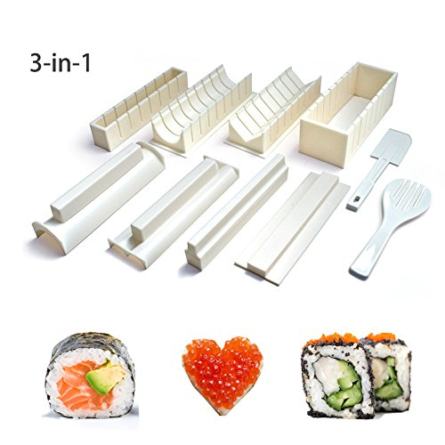 Hemore Easy Sushi Maker 10 pièces, kit de Fabrication...