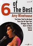 AMY WINEHOUSE - 6 of the best Songbook piano/vocal/guitar mit Bleistift -- Die 6 beliebtesten Hits der Sängerin u. a. mit BACK TO BLACK arrangiert für Klavier, Gesang und Gitarre (Noten/Sheet music)