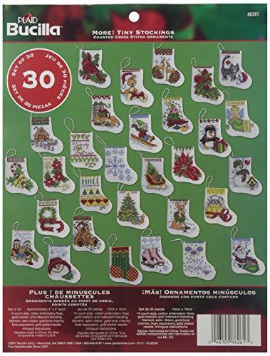 Bucilla mehr Tiny Strümpfe Ornaments Kreuzstich-Set -