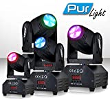 Spiele von Licht 4Scheinwerfer PUR Light Pro DJ Light Seattle LED 1x 10W RGBW ETRIER + Zusatzartikel DMX/Strobe
