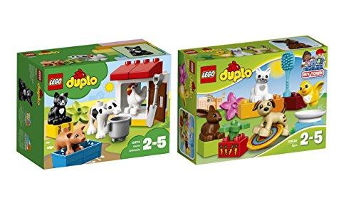 LEGO Duplo Set: 10838 Haustiere + 10870 Tiere auf dem Bauernhof, Spielzeug