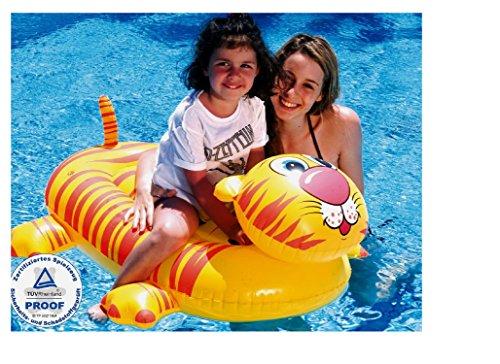 Preisvergleich Produktbild Reittier Badetier, Tiger . Aufblasbares Tiger für absoluten Badespaß! Mit Haltegriff. Größe aufgeblasen: ca. 145 x 77 cm Badespaß für Kinder / aufblasbarer Tiger / Kinderbadeartikel Tiger / aufblasbares Reittier Tiger / aufblasbare Badetiere / aufblasbare Badeartikel für Kinder / aufblasbare Badetiere Tiger / der ideale Badespass für Schwimmbad , See , Strand oder Bade Urlaub