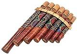 BALI PAPAYA Flûte de Pan en Bambou Instrument de Musique Bois Artisanal Panpipes Bamboo Flauta panflute