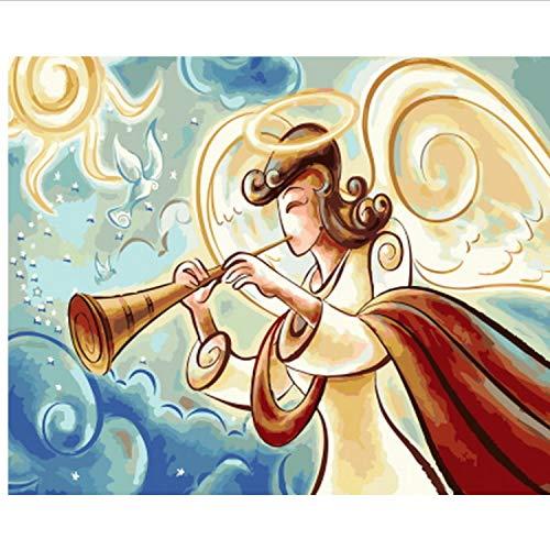 Kostüm Krieger Engel - CBUSYS Rahmenlose Bild Ölgemälde by Zahlen Wanddekor DIY Malerei Auf Leinwand Für Wohnkultur 40 * 50 cm Engel