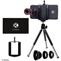 Camkix® Kit d'objectifs Compatible avec Samsung Galaxy S8 / S8 Plus incluant: Téléobjectif 8X