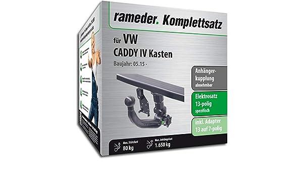 Anh/ängerkupplung abnehmbar Rameder Komplettsatz 148822-08148-1 13pol Elektrik f/ür Renault Grand SC/ÉNIC III
