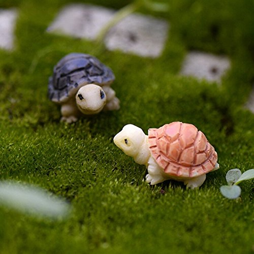 bestim-incuk-2-pieces-miniature-fairy-garden-mini-turtles-ornament-dollhouse-plant-pot-figurine-diy-