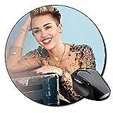Miley Cyrus D Tapis De Souris Ronde Round Mousepad PC