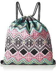 Loomiloo BAR - Bolsa con cordón, motivos aztecas, color rosa