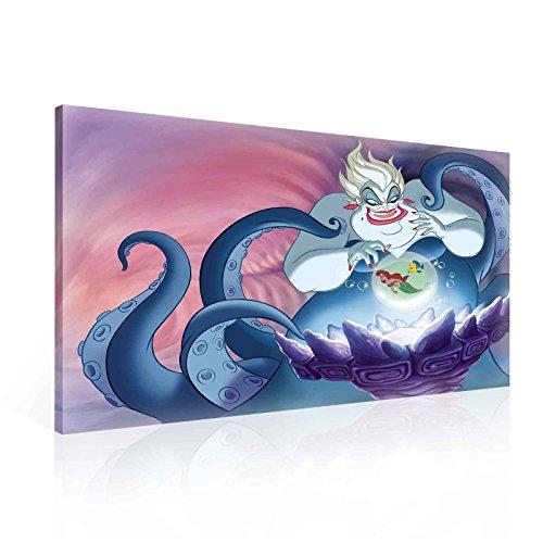 Disney Villains Bösewichte Ursula Leinwand Bilder (PPD1373O1FW) - Wallsticker Warehouse - Size O1 - 100cm x 75cm - 230g/m2 Canvas - 1 Piece
