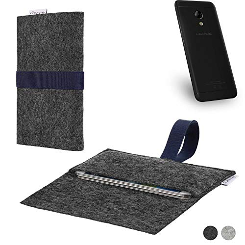 flat.design Handy Hülle Aveiro für UMIDIGI C2 passgenaue Filz Tasche Case Sleeve Made in Germany