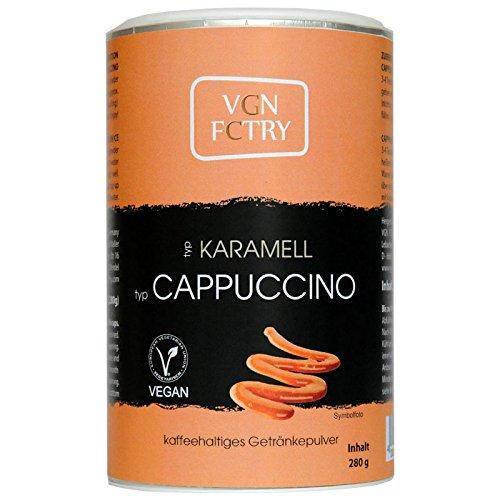 VGN-FCTRY-Instant-Kaffee-Typ-Cappuccino-Karamell-280g-vegan-vegetarisch