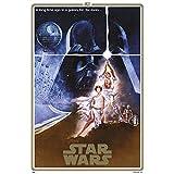 Grupo Erik GPE5165 Poster Star Wars Classic 40 Aniversario One Sheet A, carta, Multicolore,  91 x 61,5 x 0,1 cm