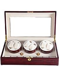 Lindberg & Sons-UBB9OR3brcr - Remontoir et boîte brun pour 6 montres automatiques et de l'espace de stockage pour 8 montres