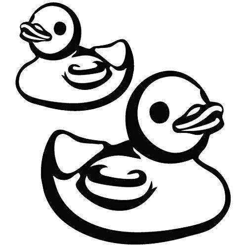 Duckshop-Papera di Gomma per Il Bagno, a Parete, in Vinile, Motivo: Auto, Computer Portatili, telefoni cellulari, di Leon O