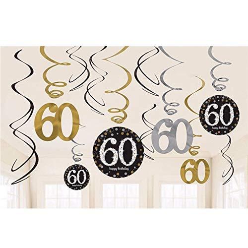 Geburtstagsfeiern Geburtstag Hanging Swirl Dekorationen Geburtstag Party 60 ()
