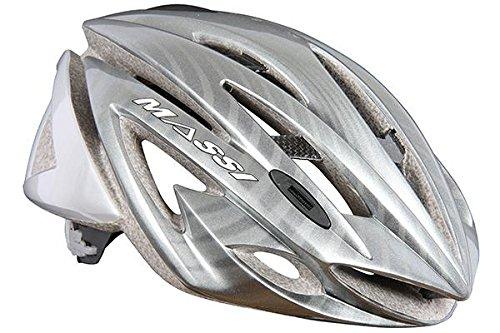 Massi Carbon - Fahrradhelm Unisex, Farbe Versilbert, Größe L