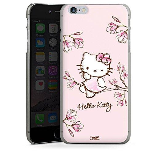 Apple iPhone 6 Silikon Hülle Case Schutzhülle Hello Kitty Merchandise Fanartikel Magnolia Hard Case anthrazit-klar