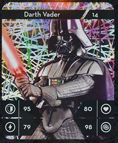 Star Wars Kaufland Sammelkarten Album einzelne Karten incl.WIZUALS Sticker (14-Darth-Vader-14-Glitzer)