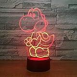 Bunte Lichter der Umwandlungs-3D, 3D LED USB-Lampen-Karikatur-Spiel-Zahl Acrylneuheit-Weihnachtsbeleuchtungs-Geschenk RGB-Noten-Fernprüfer-Spielwaren