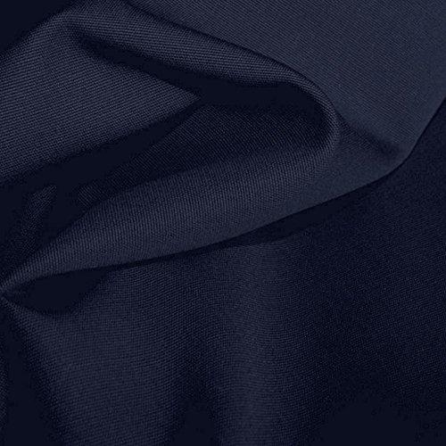 TOLKO Baumwollstoff Segeltuch mittelschwer - Polsterstoff/Möbelstoff als Meterware am Stück (Nacht-Blau) - Baumwolle Stoff Stuhl