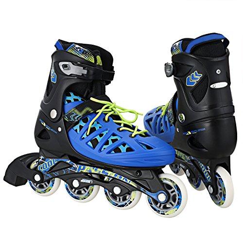 Ancheer Inlineskates Erwachsene Inlineskates Schlittschuhe Skateschuhe verstellbare Größe: 37-40(M) 41-44(L),Inliner für Erwachsene und Jugendliche
