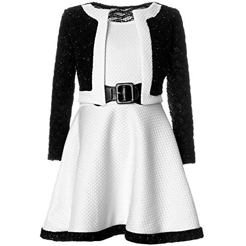 ze Winter Kleid Langarm 21644, Farbe:Weiß, Größe:140 (Mädchen-größe 8 Kleider)