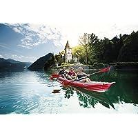 Colour - kayak SEAWAVE - kayak Touring STABIELO GUMOTEX 1-3 personas - cámara de aire para barcos - GUMOTEX - manguera pedalones - GUMOTEX - manguera de kayaks para CAMPING-CARAVAN-OUTDOOR-FREIZEIT - por Holly Produkte STABIELO - innovación fabricado en Alemania - Holly Produkte STABIELO - Holly-verde colour de la imagen - en caja + bandeja asiento + pegatinas decorativas +{2} unidades de riego de manta
