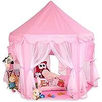 KIDUKU® Tienda de juego para niños castillo para jugar castillo de princesa tienda de campaña para niños cueva de juego para niños, disponible en tres colores (Rosa)