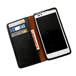 i-KitPit PU Leather Wallet Flip Case For Sony Xperia ZL (BLACK)