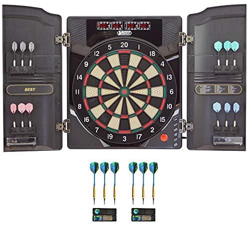 Best Sporting elektronische Dartscheibe Oxford 2.0 LED Kabinett mit hochwertigen 18 g Pfeilen