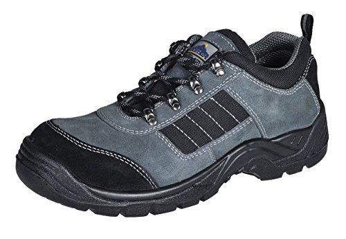 Portwest Fw64 Steelite™ Trekker Shoe S1P Uomo Calzature Protettive Nuove Scarpe Nero