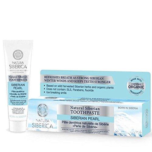 Erbe Natürliche (NATURA SIBERICA - Siberian Perle Zahncreme - Für ein frisches und natürliche Zahnpflege - Basierend auf Harvestes sibirischer Wildkräutern - Fluoride frei - 100 ml)