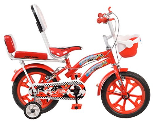 Outdoor® Bikes Jony Pony 14 Inches Bicycle For 3 to 5 Age Group (Semi Assembled With Assembly Instruction Manual & Tool Kit) (Red)