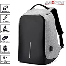 AllExtreme Anti theft Backpack Business Laptop Bag with USB Charging Port Waterproof School College Travel Hiking Camping Organizer Bag Anti-theft Bagpack for 14 Inch Laptop, Notebook, Camera and Mobile (Grey)