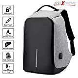 #6: AllExtreme Anti theft Backpack Business Laptop Bag with USB Charging Port Waterproof School College Travel Hiking Camping Organizer Bag Anti-theft Bagpack for 14 Inch Laptop, Notebook, Camera and Mobile (Grey)