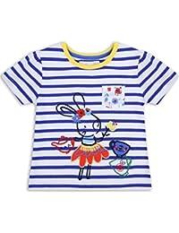 The Essential One - Baby Kinder Mädchen T-Shirt - Blau/WeiB - EOT271