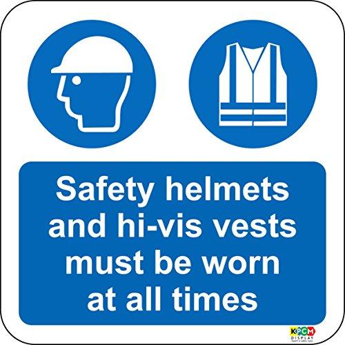 Boden Grafiken Safety Helme und Hi-Vis Westen zu tragen, Boden Marker Schild. Ideal für die Hervorhebung Potential Gefahren Wo traditionellen Schilder sind nicht effektiv-Selbstklebendes Vinyl 400mm x 400mm -