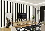 Yosot Mediterrane Gestreifte Vliesstoff Tapete Kinderzimmer Junge Mädchen Wohnzimmer Tapeten Schwarz Und Weiß