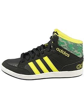 Adidas - Hoops Mid K - CG5735 - Color: Negro-Verde-Amarillo - Size: 38.0