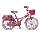 MEDIAWAVE Store Bicicletta bambina misura 20 HELLO CANDY RS2009 telaio acciaio età 6-10 anni