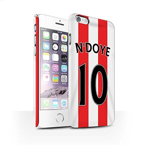 Offiziell Sunderland AFC Hülle / Matte Snap-On Case für Apple iPhone 6S / Pack 24pcs Muster / SAFC Trikot Home 15/16 Kollektion N'Doye