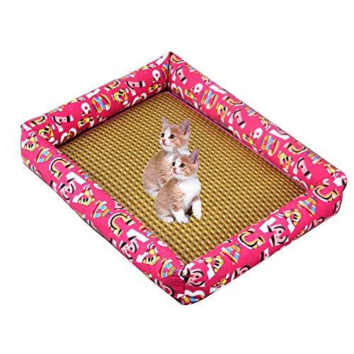 �hlmatte Hunde Katzen Katzen Matten Kissen Haustiere Sommer Kühlen Matten Atmungsaktiv Welpen Mat Bed House,E,XL ()