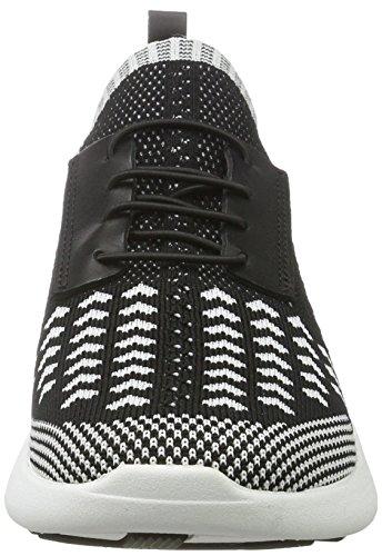 Kendall and Kylie Damen Kkbrandy Sneaker Schwarz (Black + Black/White Knit)