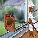 proheim Fenster-Dichtung mit D-Profil in braun 6 Meter selbstklebende Gummi-Dichtung für Fenster / Türen verschiedene Profile aus EPDM-Gummi