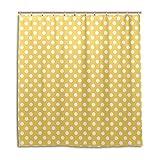 My Daily gelb und weiß Polka Dot Duschvorhang 167,6x 182,9cm, schimmelresistent & Wasserdicht Polyester Dekoration Badezimmer Vorhang