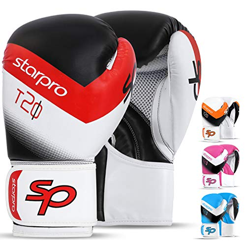 Pro-mesh-boxer (Boxhandschuhe für Männer und Frauen Training Sparring Kickboxen UFC MMA Muay Thai Pro Punching Fight Heavy Bag Mitts, schwarz/weiß, 16 oz)
