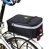Huayang Gepäckträger-Tasche fürs Fahrrad/Mountainbike, zum Anbringen am Hinterrad, wasserfest, für Wasserflasche/Werkzeug